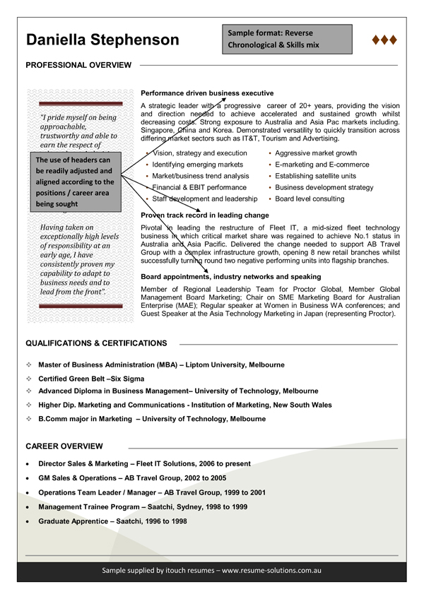 professional resume tips and cv templates - Australian Resume Template Word