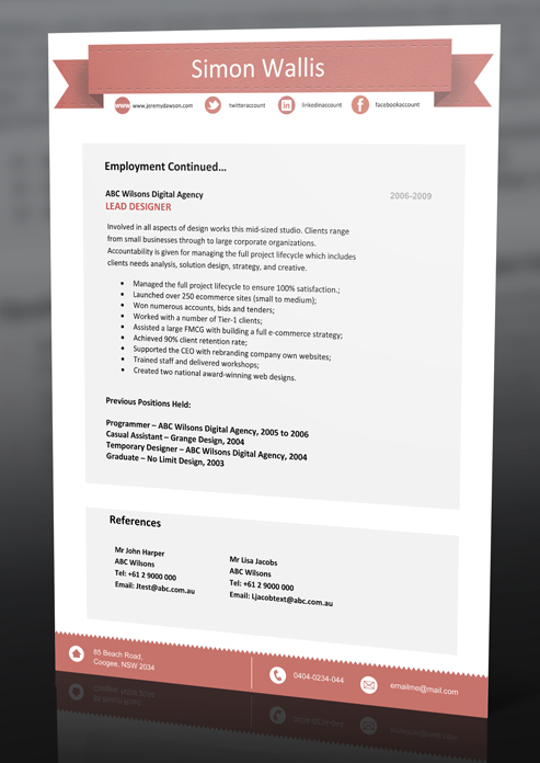 resume templates download professional resume template and cv templates - Modern Professional Resume Templates