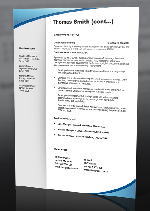 prevnext - Resume Template Au