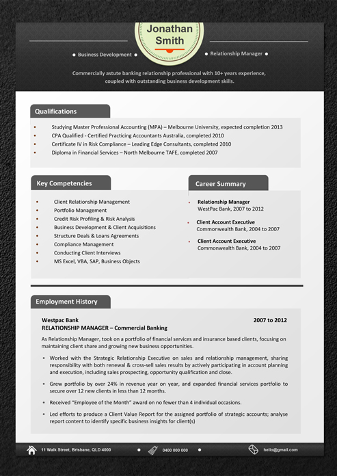 Sample Resume Australia Seek Template Pdf Hospitality