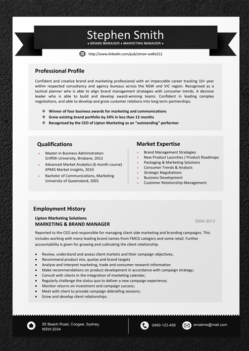 buy professional designer resume templates