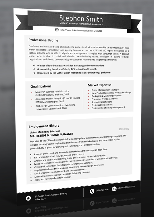 resume template 4