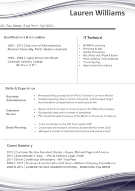 resume template 6
