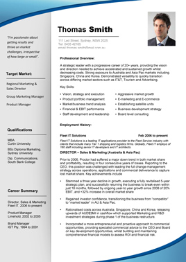 Sample resume template for it professional
